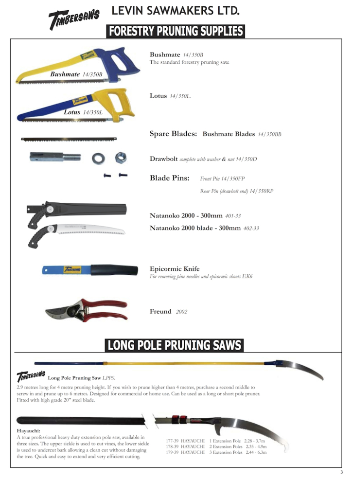 Levin Forestry Catalogue 3