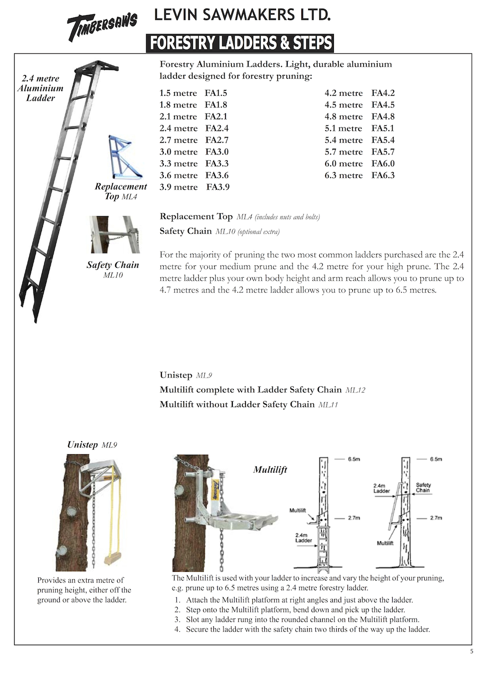 Levin Forestry Catalogue 5