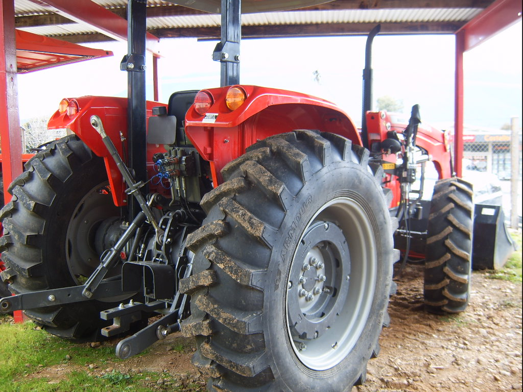 Used Tractor Wheel Weights : Used massey ferguson mf rops tractor with loader