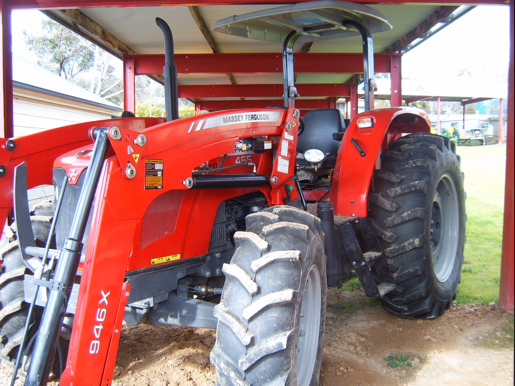 Massey Ferguson Canopy Top : Used massey ferguson mf rops tractor with loader